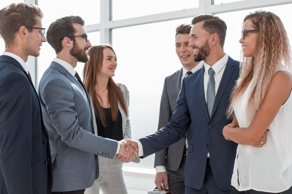 Handshake Of Business People At A Meeting In The Office